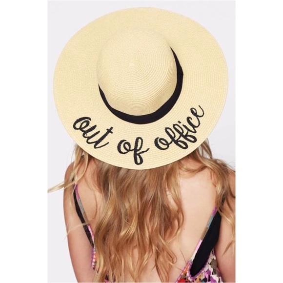 98ce545c71 🆕Out Of Office Embroidered Floppy Sun Hat